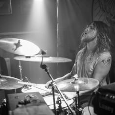 Drummer Thor Porter of Jet Pack, Invicta!