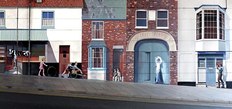 The Milford Street Bridge Mural celebrates the history of a small Salisbury community