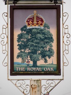 The 2013 sign at the Royal Oak pub in Devizes Road
