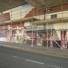 The mural in progress, April 2011 | Alison Pascalides