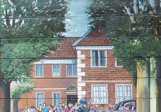 The Jubilee Mural - Scene 1 - the Queen's visit