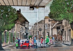 The Jubilee Mural - Scene 3 - Pennyfarthing Street