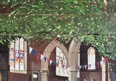 The Jubilee Mural - Scene 4 - St. Edmund's Church