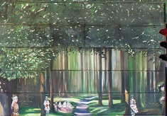 The Jubilee Mural - Scene 5 - Outdoor Celebrations