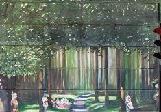 The Jubilee Mural - Scene 5 - Outdoor Celebrations