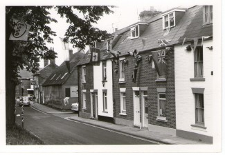 Greencroft Street, decorated for the Queen's Silver Jubilee in 1977