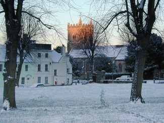 The Greencroft and Salisbury Arts Centre in the snow in December 2000 | Photo by John Palmer