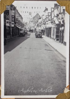 Winchester Street decorated for celebrations | photo from Anderson Archive