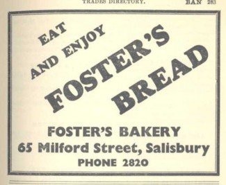 This is an advertisement for Foster's bread which could be bought in the shop or delivered.