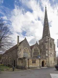 Stand 12 - The Parish Church of Sarum Saint Martin, more commonly called Saint Martin's Church.   Photo John Palmer 2014