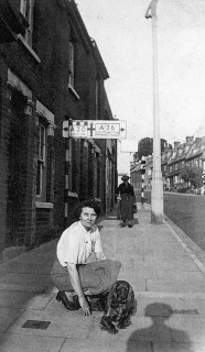 Patricia Humby outside 69 Milford Street, now the site of the bridge.