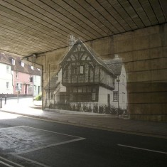 The Ghost of No 88 Milford Street on the Milford Street Bridge. | Milford Street Bridge Project