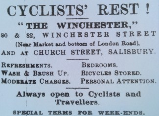 Cyclists' Rest Advert, Winchester Street