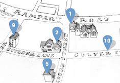 Map of Milford Street Bridge projects