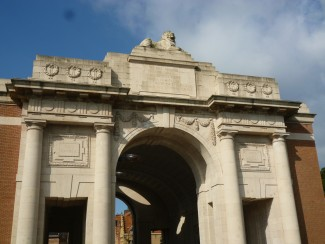 The names of some Salisbury soldiers with no known grave are inscribed on the Menin Gate or the memorial walls in Tyne Cot Cemetery | Picture taken by Rita Jacob