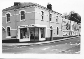 The corner of Rampart Road and Southampton Road in1966.  | With kind permission of Salisbury and South Wiltshire Museum © Salisbury Museum