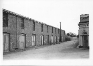 The Blakey Road coal bunkers, opposite the Dust Hole pub, where the local coal merchants unloaded and stored coal from the yard, creating loads of dust -  hence the 'Dust Hole' pub name. The last 2 were demolished c. 2012-13.  | With kind permission of Salisbury and South Wiltshire Museum © Salisbury Museum