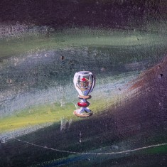 Picture of a glass goblet given to the members of Salisbury Amateur Boxing Association at the Coronation celebrations in Victoria Park in 1953 | John Palmer