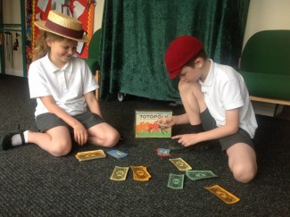 Children from St Marks School play