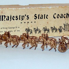 A small model of Her Majesty's state coach, given Salisbury children for the Coronation | John Palmer