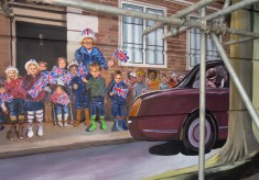 Photo gallery - creating the Jubilee Mural