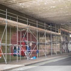 The scenes in the Jubilee Mural are beginning to take shape | John Palmer