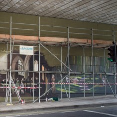 The Jubilee Mural scenes in St. Edmund's Church and the gardens are taking shape | John Palmer