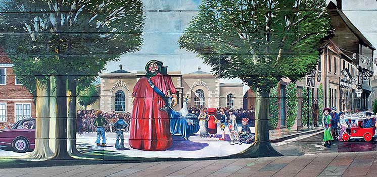 A second mural was created in 2012 to celebrate the Diamond Jubilee
