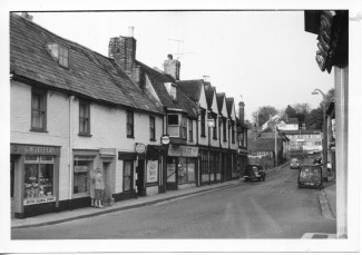 Winchester Street's shops and the Anchor and Hope pub in 1966 | With kind permission of Salisbury and South Wiltshire Museum © Salisbury Museum