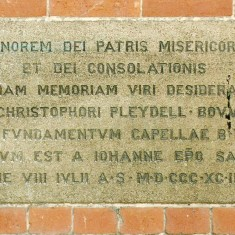 Dedication stone outside St. Mary's chapel, in St. Martin's Lane | Alan Doel