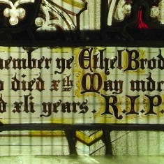 Memorial window in St. Mary's chapel | Alan Doel