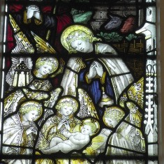Nativity window in St. Mary's chapel | Alan Doel