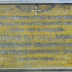 Memorial plaque in St. Mary's chapel | Alan Doel