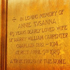 Dedication panel in St. Mary's chapel | Alan Doel