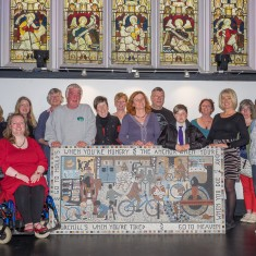 Mosaic Makers and Supporters with the newly unveiled mosaic | John Palmer