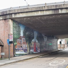 The Jubilee mural, seen from Milford Street looking Eastwards out of the city | John Palmer