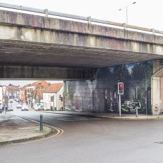 The Jubilee Mural, seen from outside the Ring Road looking towards the city centre