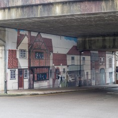 The original Milford Street Bridge mural, looking towards town from outside the Ring Road | John Palmer