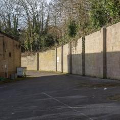 The retaining wall behind Salisbury Snooker Club | John Palmer
