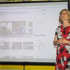 Contributor and website volunteer Pam Wall talks about making the website   John Palmer