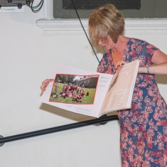 Ali Kay describes how her class at St. Mark's school recreated the old photo of children in the Greencroft | John Palmer