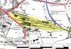 Milford Goods Yard - old map