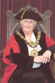 Iris Evans in her mayoral robes. | Courtesy of Salisbury City Council