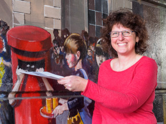 Lisa Parrott, the girl in the pillar box in the Jubilee Mural, posts a letter to her younger self | John Palmer