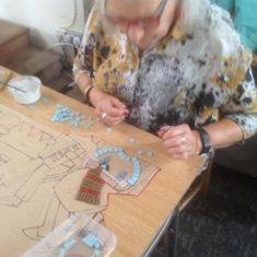 Day 2 of making the Greencroft Street Mosaic, 30th September 2017