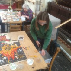 Making the mosaic - day 4