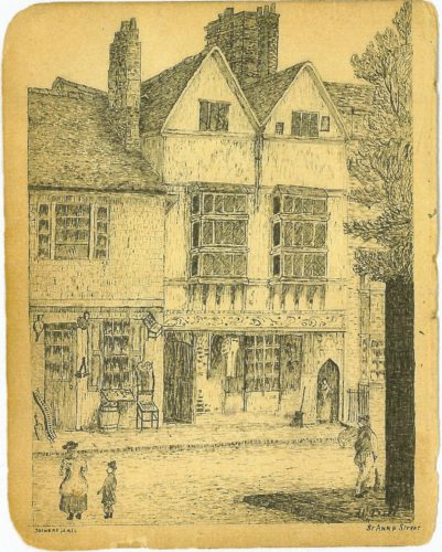 Joiners Hall sketch circa pre 1920 - a submission from James Johnstone | James Johnstone