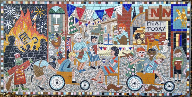 The Completed Greencroft Street Mosaic