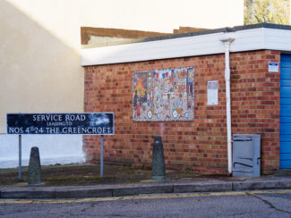 The mosaic in place on the Greencroft Street garages | John Palmer