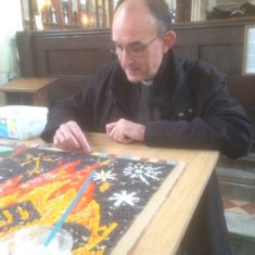 Kelvin, Rector of St Thomas's adds a helping hand on our drop in day.